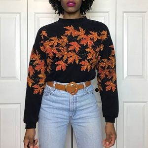 90s Vintage Coldwater Creek Fall Leaves Sweatshirt